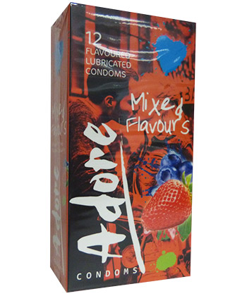 Adore Condoms Mixed Flavours
