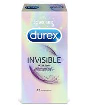 Durex Invisible Extra Lubrifié