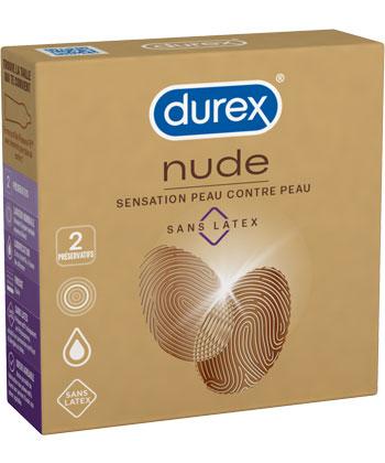 Durex Nude Sans Latex (par 2)